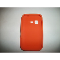 Protector Silicon Case Samsung Chat 2 S5270 Color Naranja!!!
