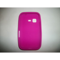 Protector Silicon Case Samsung Chat 2 S5270 Color Rosa!!!