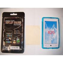 Kit 3x1 Tpu+ Mica+ Paño Nokia Lumia 820!!!