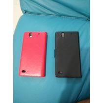 Sony Xperia C4 E5303 E5306 Cartera Piel Lisa Promo Oferta