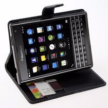 Funda Flip Folder Para Blackberry Passport (negro) Economica