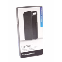 Blackberry Z10 Funda Original Flip Shell (negro)
