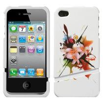 Funda Protector 2 Piezas Iphone 4g/4s Flores Coral