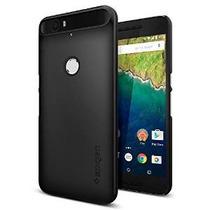 Nexus 6p Caso, Spigen [thin Fit] Exact-fit [negro] Prima Fin