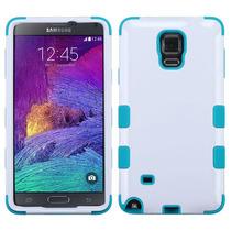Funda Protector Samsung Galaxy Note 4 Blanco Aqua Triple Lay