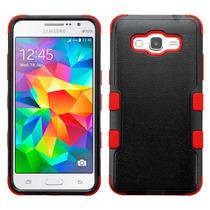 Funda Doble Uso Rudo Samsung Galaxy Grand Prime G530 Rojo