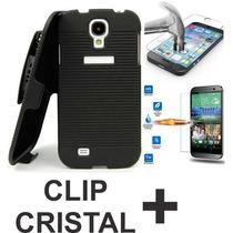Kit Funda Holster Clip Y Cristal Templado Huawei G Play Mini