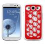 Protector Samsung Galaxy Siii Telaraña Rojo