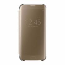 Funda Samsung Galaxy S7 Edge S-view Flip Cover Clear Dorada