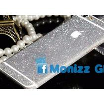 Calcomanía Brillantinas Color Plata Iphone 6 Plus/ 6s Plus