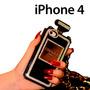 Funda Perfume Chanel Iphone 4 4s Con Pedrería