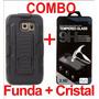 Combo Funda Protector Uso Rudo Más Cristal Lg Pro Lite D680