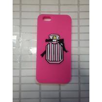 Protector De Goma 3d Botella Perfume Pink Iphone 5,5s,5c
