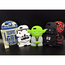 Funda Iphone 5s 5c 6 Star Wars Yoda Darth Vader Silicon