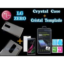 Funda Protector Crystal Case Lg Zero H650 + Cristal Templado