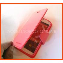 Moto X Xt1058 Funda Cartera Flip Shell Rosa La Mejor Calidad