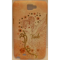 Funda Protector Mobo Samsung Galaxy Note 2 Tinkerbell/rosa