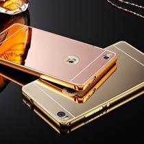 Case Funda Tipo Espejo Marco Metalico Para Huawei G7 P7 M8