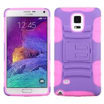 Funda Protector Samsung Galaxy Note 4 N910 Mixto Rosa Morado