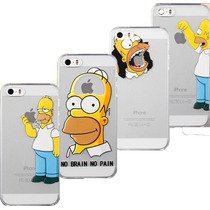 Funda Crystal Case Homero Simpsons Bart Iphone 5 5s + Regalo