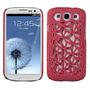 Protector Samsung Galaxy Siii Telaraña Rojo Mate