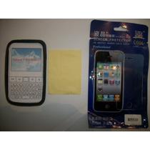 Kit 3x1 Silicon+ Mica+ Paño Samsung Galaxy Y Pro B5510!!!