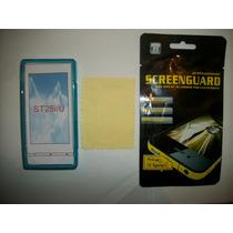 Kit 3x1 Tpu+ Mica Privacidad+ Paño Sony Xperia U St25!!!