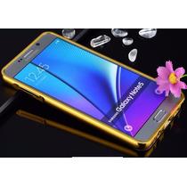 Funda Bumper Galaxy Note 5 Aluminio Acabado Espejo