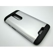 Funda Uso Rudo Motorola Moto X Force Plata
