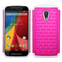 Funda Protector Motorola Moto G 2da Gen Mixto Blanco Rosa B