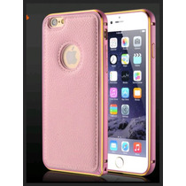 Luxury Case Funda Bumper Aluminio Piel Iphone 6 6s