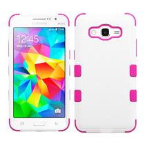 Funda Doble Uso Rudo Samsung Galaxy Grand Prime G530 Blanco