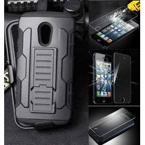 Kit Protector Uso Rudo Cristal Templado Huawei G Elite L23