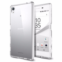 Case Funda Bumper Spigen Sony Xperia Z5 Transparente Protege