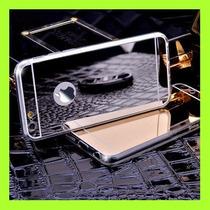 Funda Protector Para Iphone 6 6s Espejo Oro Plata Negro Tpu