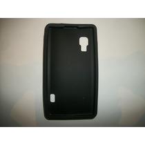 Protector Silicon Case Lg Optimus L5x Color Negro!