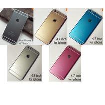 Funda Iphone 6 (4.7) Tapa Colores + Mica Gratis