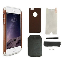 Funda Madera Aluminio Element Case Iphone 6 6 Plus + Regalos