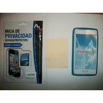 Kit 3x1 Tpu+ Mica Privacidad+ Paño Lg L5x Optimus!!!