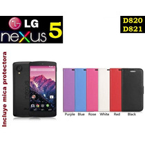 Funda Vinipiel Lg Nexus 5, D820, D821, + Mica Protectora