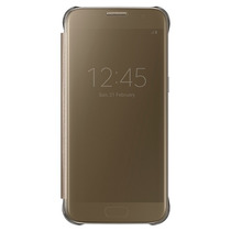 Funda Samsung Galaxy S7 S-view Flip Cover Clear Dorada