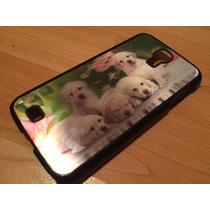 Protector Funda 3d Cachorros Perros Samsung Galaxy S4