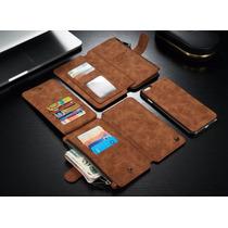 Funda Cartera 2 En 1 Piel Iphone 6s Plus Celular Billetera