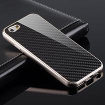 Carcasa Aluminio Iphone 6 Fibra De Carbon Funda Bumper Metal