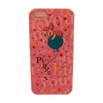 Funda Protector Mobo Apple Iphone 5g/5s Piglet Rosa/brillito