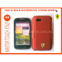 Clip Combo Protector Master Touch Xt621 Rojo Ferrari Logo !!