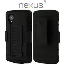 Lg Nexus 5 Funda Con Clip Para Cinturon 3 Capas Anti Golpes