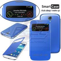 Flip Cover 1 Y 2 Ventanas + Regalos Para Samsung S4 Mini