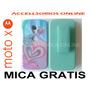 Clip Combo Protector Motorola Moto X Azul Aqua Corazones !!!