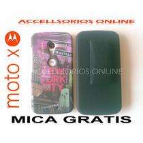 Clip Combo Protector Motorola Moto X New York City Negro !!!